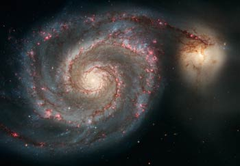 Messier 51, the Whirlpool Galaxy (credit: NASA and Hubble Space Telescope)